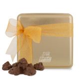 Decadent Chocolate Clusters Gold Medium Tin-Bryant Official Logo Engraved