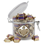 Snickers Satisfaction Round Canister-Bryant Official Logo