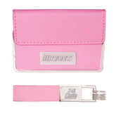 Business Card Case and Key Ring Set Pink-Bryant Engraved