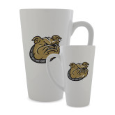 Full Color Latte Mug 17oz-Bulldog Head