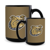 Full Color Black Mug 15oz-Bulldog Head