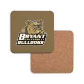 Hardboard Coaster w/Cork Backing-Bryant Official Logo