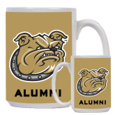 Alumni Full Color White Mug 15oz-Bulldog Head