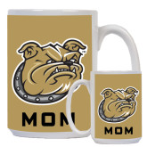Mom Full Color White Mug 15oz-Bulldog Head