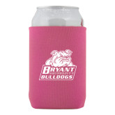 Collapsible Hot Pink Can Holder-Bryant Official Logo