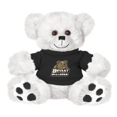 Plush Big Paw 8 1/2 inch White Bear w/Black Shirt-Bryant Official Logo