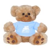 Plush Big Paw 8 1/2 inch Brown Bear w/Light Blue Shirt-Bryant Official Logo