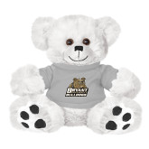 Plush Big Paw 8 1/2 inch White Bear w/Grey Shirt-Bryant Official Logo