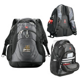 Wenger Swiss Army Tech Charcoal Compu Backpack-Bryant Official Logo