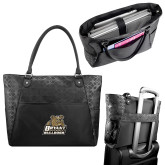Sophia Checkpoint Friendly Black Compu Tote-Bryant Official Logo