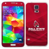 Galaxy S5 Skin-Ball State Cardinals w/ Cardinal