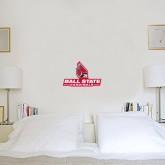6 in x 1 ft Fan WallSkinz-Ball State Cardinals w/ Cardinal