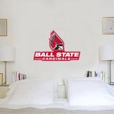 1.5 ft x 2 ft Fan WallSkinz-Ball State Cardinals w/ Cardinal