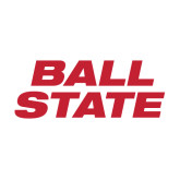 Medium Decal-Ball State Stacked, 8 inches wide