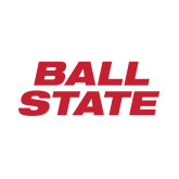 Small Decal-Ball State Stacked, 6 inches wide