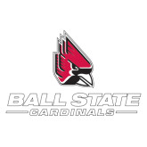 Extra Large Decal-Ball State Cardinals w/ Cardinal, 18 inches wide