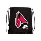 Black Drawstring Backpack-Cardinal