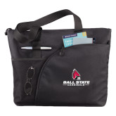 Excel Black Sport Utility Tote-Ball State Cardinals w/ Cardinal