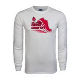 White Long Sleeve T Shirt-Cross Country Sneaker