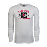White Long Sleeve T Shirt-Cross Country XC