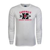 White Long Sleeve T Shirt-Cross Country XC