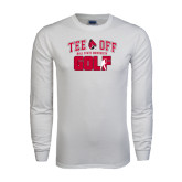 White Long Sleeve T Shirt-Golf Tee Off