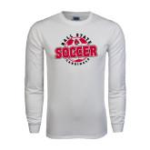 White Long Sleeve T Shirt-Soccer Circle