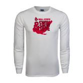 White Long Sleeve T Shirt-Swim & Dive Swimmer