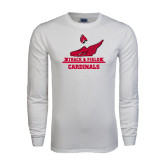 White Long Sleeve T Shirt-Track & Field Side