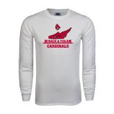 White Long Sleeve T Shirt-Track & Field Side