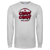 White Long Sleeve T Shirt-Chirp Chirp