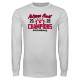 White Long Sleeve T Shirt-2020 Arizona Bowl Champions