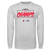 White Long Sleeve T Shirt-2020 Arizona Bowl Champs