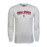 White Long Sleeve T Shirt-Arched Ball State University