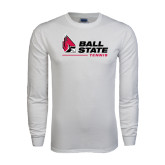 White Long Sleeve T Shirt-Tennis
