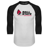 White/Black Raglan Baseball T Shirt-Grandpa