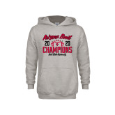 Youth Grey Fleece Hood-2020 Arizona Bowl Champions