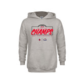 Youth Grey Fleece Hood-2020 Arizona Bowl Champs
