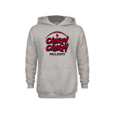 Youth Grey Fleece Hood-Chirp Chirp