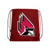 Nylon Cardinal Drawstring Backpack-Cardinal