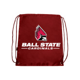 Cardinal Drawstring Backpack-Ball State Cardinals w/ Cardinal