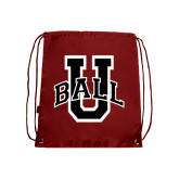 Nylon Cardinal Drawstring Backpack-Ball U