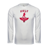 Syntrel Performance White Longsleeve Shirt-Golf Stacked