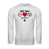 Syntrel Performance White Longsleeve Shirt-Soccer Just Kick It