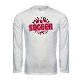 Performance White Longsleeve Shirt-Soccer Circle