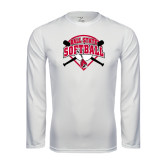 Syntrel Performance White Longsleeve Shirt-Softball Bats and Plate