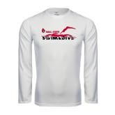 Performance White Longsleeve Shirt-Swim & Dive Diver