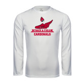 Syntrel Performance White Longsleeve Shirt-Track & Field Side