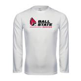 Syntrel Performance White Longsleeve Shirt-Soccer