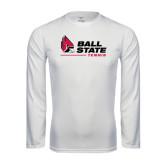 Performance White Longsleeve Shirt-Tennis